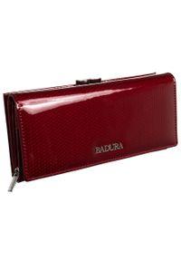 Podłużny portfel damski Badura B-43876P-SBR RED. Materiał: skóra