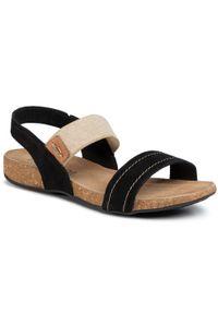 Czarne sandały Lasocki casualowe, na co dzień