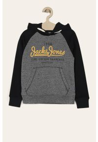Niebieska bluza Jack & Jones casualowa, z kapturem