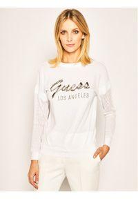 Biały sweter klasyczny Guess