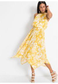 Żółta sukienka bonprix asymetryczna
