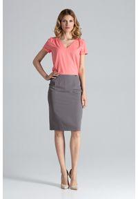 Szara spódnica ołówkowa Figl elegancka