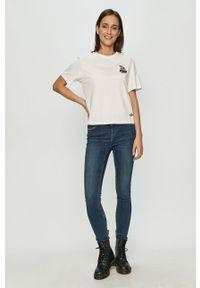 Biały t-shirt Puma casualowy, na co dzień, z nadrukiem