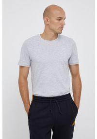 4f - 4F - T-shirt bawełniany. Okazja: na co dzień. Kolor: szary. Materiał: bawełna. Wzór: gładki. Styl: casual