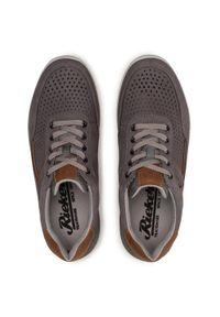 Rieker - Sneakersy RIEKER - 16425-40 Grau. Kolor: szary. Materiał: nubuk, skóra. Szerokość cholewki: normalna