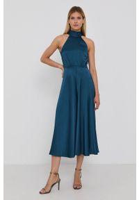 Samsoe & Samsoe - Samsoe Samsoe - Sukienka. Okazja: na co dzień. Typ kołnierza: dekolt halter. Kolor: zielony. Materiał: tkanina. Wzór: gładki. Typ sukienki: proste. Styl: casual #2