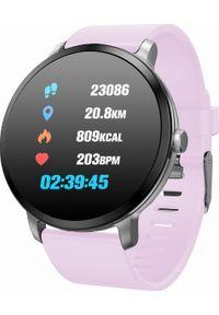 Różowy zegarek Garett Electronics smartwatch, sportowy