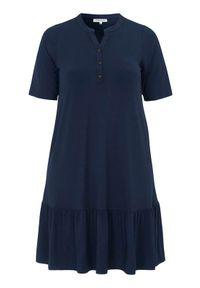 Zhenzi Sukienka dżersejowa Giro granatowy female niebieski 46/48 (M). Kolor: niebieski. Materiał: jersey. Długość rękawa: krótki rękaw. Wzór: melanż. Styl: elegancki