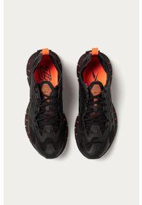 Czarne sneakersy Reebok na sznurówki, z cholewką
