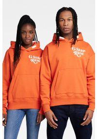 G-Star RAW - G-Star Raw - Bluza x Snoop Dogg. Okazja: na co dzień. Typ kołnierza: kaptur. Kolor: pomarańczowy. Materiał: poliester. Wzór: nadruk. Styl: casual