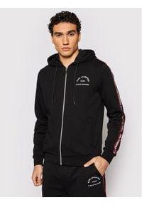 Karl Lagerfeld - KARL LAGERFELD Bluza 705071 511900 Czarny Regular Fit. Typ kołnierza: dekolt w karo. Kolor: czarny