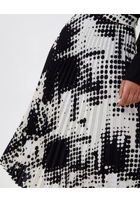 Liu Jo - LIU JO - Plisowana spódnica midi. Kolor: czarny. Materiał: materiał. Wzór: nadruk