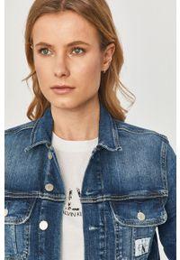 Niebieska kurtka Calvin Klein Jeans na co dzień, casualowa, bez kaptura