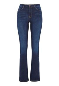 Niebieskie spodnie Happy Holly klasyczne, z podwyższonym stanem
