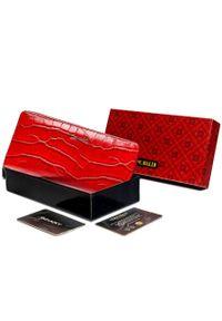 4U CAVALDI - Portfel damski czerwony Cavaldi PX25-CR-0710 RED. Kolor: czerwony. Materiał: skóra