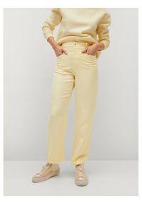 mango - Mango Spodnie materiałowe Sky 87058633 Żółty Regular Fit. Kolor: żółty. Materiał: materiał