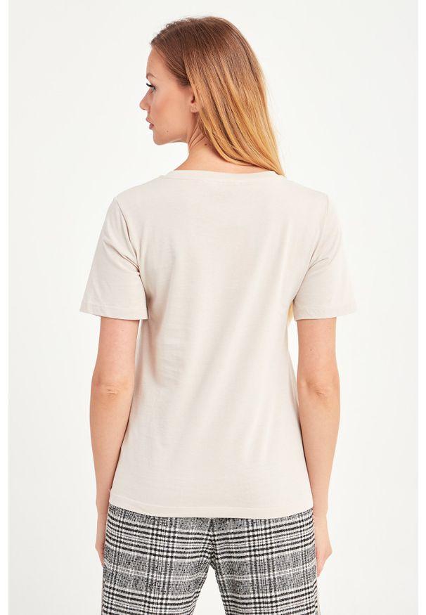 T-shirt Trussardi Jeans w kolorowe wzory, casualowy