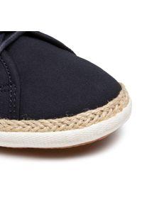 Pepe Jeans - Espadryle PEPE JEANS - Maui Blucher PMS30710 Navy 595. Okazja: na co dzień. Kolor: niebieski. Materiał: zamsz, materiał, skóra. Szerokość cholewki: normalna. Styl: casual, sportowy