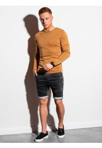 Żółty sweter Ombre Clothing