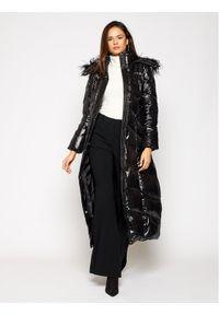 Czarny płaszcz zimowy TwinSet