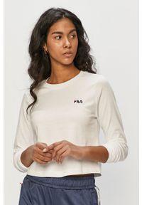 Biała bluzka z długim rękawem Fila casualowa, na co dzień, gładkie