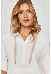 Biała bluza Max Mara Leisure na co dzień, z kapturem, gładkie, casualowa #5