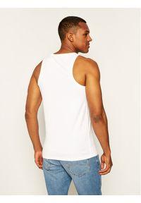 Superdry Tank top Ol Neon Lite Vest M6010024A Biały Regular Fit. Kolor: biały