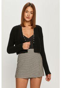 Czarny sweter rozpinany Pinko na co dzień, z długim rękawem, długi
