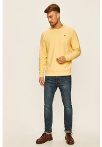 Levi's® - Levi's - Bluza. Okazja: na spotkanie biznesowe, na co dzień. Kolor: żółty. Materiał: dzianina. Wzór: gładki. Styl: casual, biznesowy