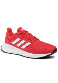 Czerwone buty do biegania Adidas z cholewką