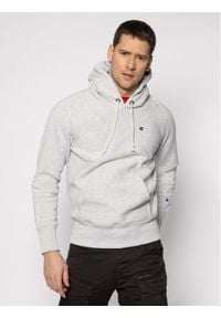 Champion Bluza Hooded 214675 Szary Custom Fit. Kolor: szary