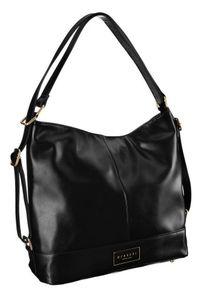 Shopper damski czarny Monnari BAG2801-020. Kolor: czarny. Wzór: gładki. Materiał: skórzane