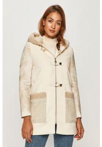 Biały płaszcz Desigual casualowy, na co dzień