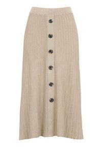 Beżowa spódnica Freequent elegancka, melanż