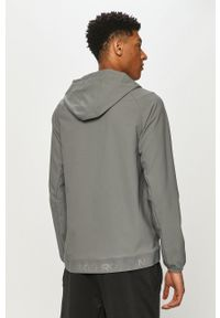 Szara kurtka Nike na co dzień, z kapturem, raglanowy rękaw