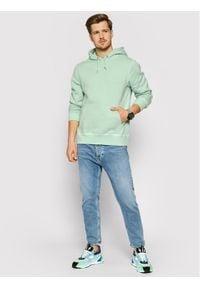 HUF Bluza Embossed FL00147 Zielony Regular Fit. Kolor: zielony