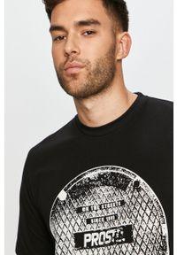 Czarny t-shirt Prosto. z nadrukiem, casualowy