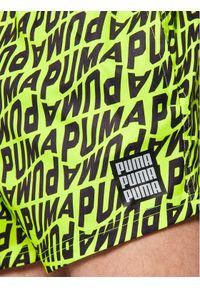 Zielone szorty Puma z nadrukiem