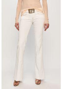 Białe jeansy bootcut Pinko klasyczne, gładkie