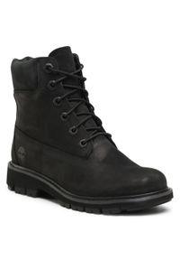 Czarne buty trekkingowe Timberland
