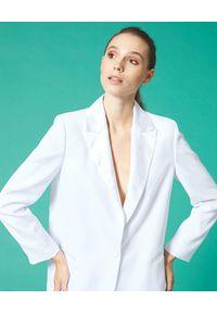 Manila Grace - MANILA GRACE - Biała marynarka oversize. Kolor: biały. Długość rękawa: długi rękaw. Długość: długie. Sezon: lato, wiosna #4