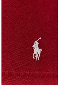 Polo Ralph Lauren - Longsleeve bawełniany. Okazja: na co dzień. Typ kołnierza: polo. Kolor: czerwony. Materiał: bawełna. Długość rękawa: długi rękaw. Wzór: gładki. Styl: casual