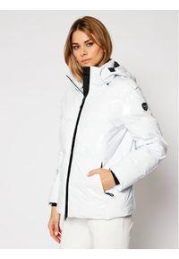 Biała kurtka sportowa EA7 Emporio Armani narciarska