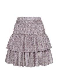 LOVE & ROSE - Spódnica z jedwabiu Juliette. Kolor: różowy, fioletowy, wielokolorowy. Materiał: jedwab. Wzór: kwiaty. Styl: elegancki