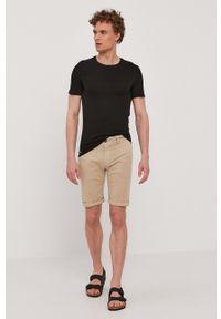 Lacoste - T-shirt (3-pack). Okazja: na co dzień. Kolor: czarny. Materiał: dzianina. Styl: casual