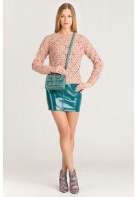 Sweter Elisabetta Franchi z długim rękawem, krótki, na spacer