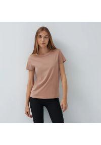 House - Koszulka z bawełny organicznej basic - Różowy. Kolor: różowy. Materiał: bawełna