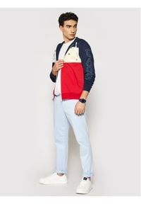 Lacoste Bluza SH0177 Granatowy Regular Fit. Kolor: niebieski