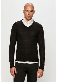 Czarny sweter Brave Soul casualowy, z długim rękawem