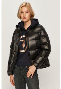 Czarna kurtka Trussardi Jeans bez kaptura, casualowa, na co dzień